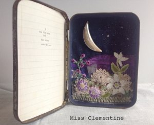 Miss Clementine Embroidered Tin