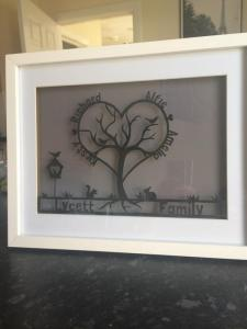 Papercut-art-family-tree
