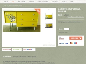 Green in Mind Product Page on Remade in Britain, the British upcycling marketplace
